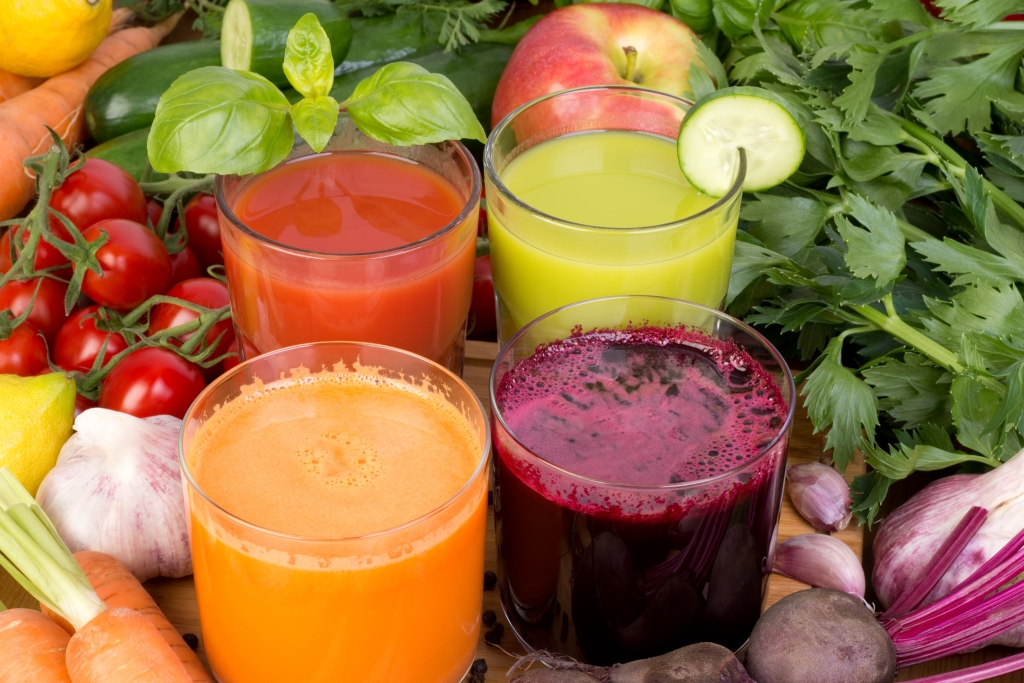 Vegetable juice, tomato, carrot, cucumber and beetroot